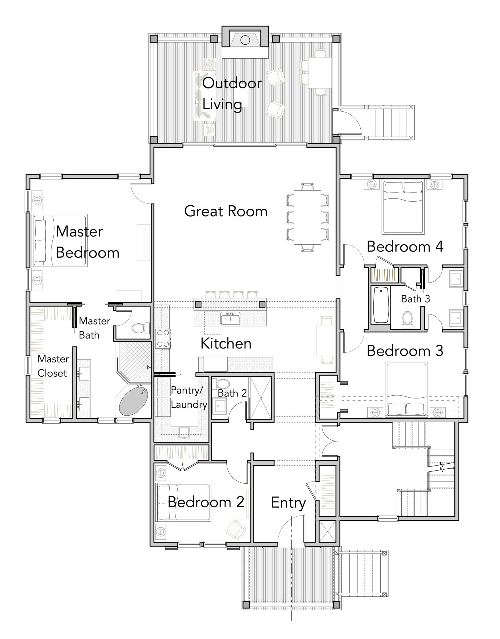 Reedy River Perch Flatfish Island Designs Coastal Home Plans Coastal House Plans Hip Roof Design House Plans