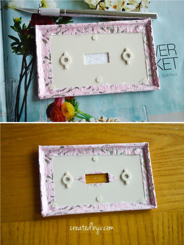 How To Decorate Your Switch Plates Decorative Switch Plate Switch Plates Easy Diy Wreaths