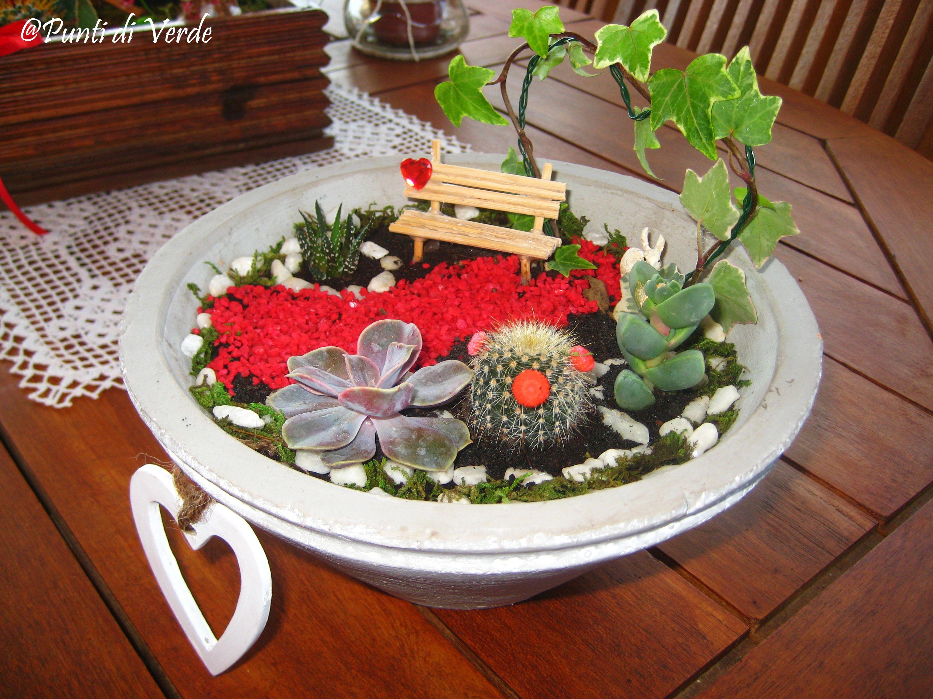 Giardino in miniatura con panchina terrario giardini in miniatura pinterest panchina - Giardino in miniatura ...
