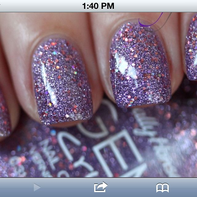 Sally Hansen Gem Crush is so fab! You have to put a clear top coat on for it to be smooth. So pretty!