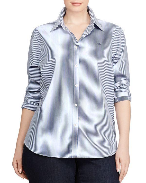 f48fb2efa1a98 Lauren Ralph Lauren Plus Non Iron Dress Shirt