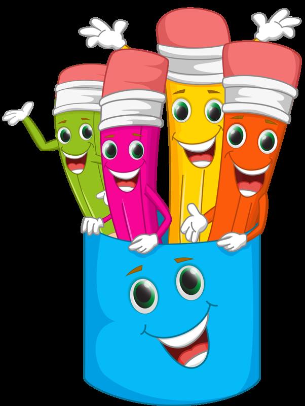funny cartoon pencil vector material 04 png clip rh pinterest ca school clipart my cute graphics cute school clipart png
