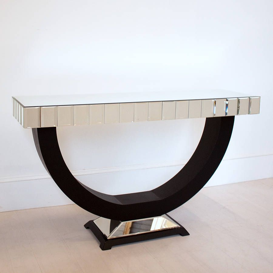 High resolution art deco console table art deco console - Table console pliable ...
