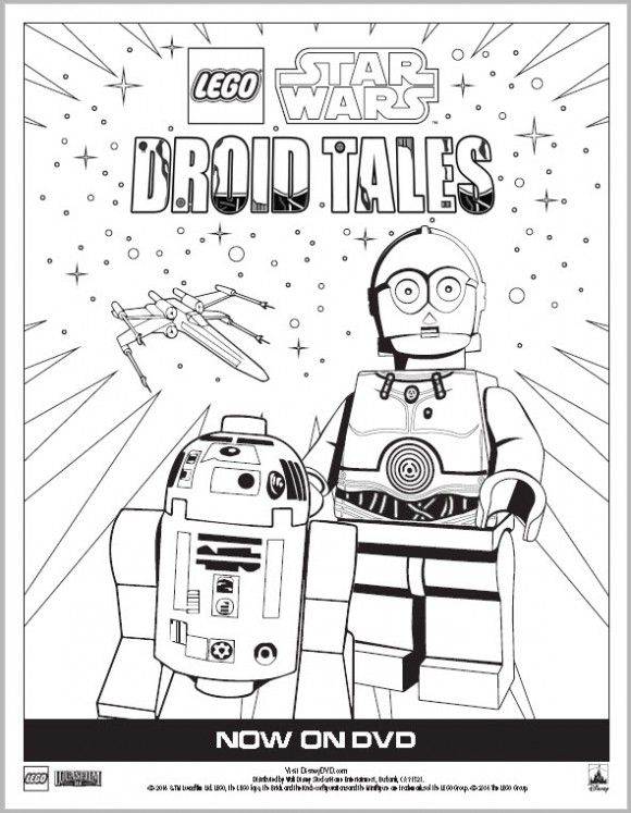 Free Lego Star Wars Activity Sheets and Coloring Pages