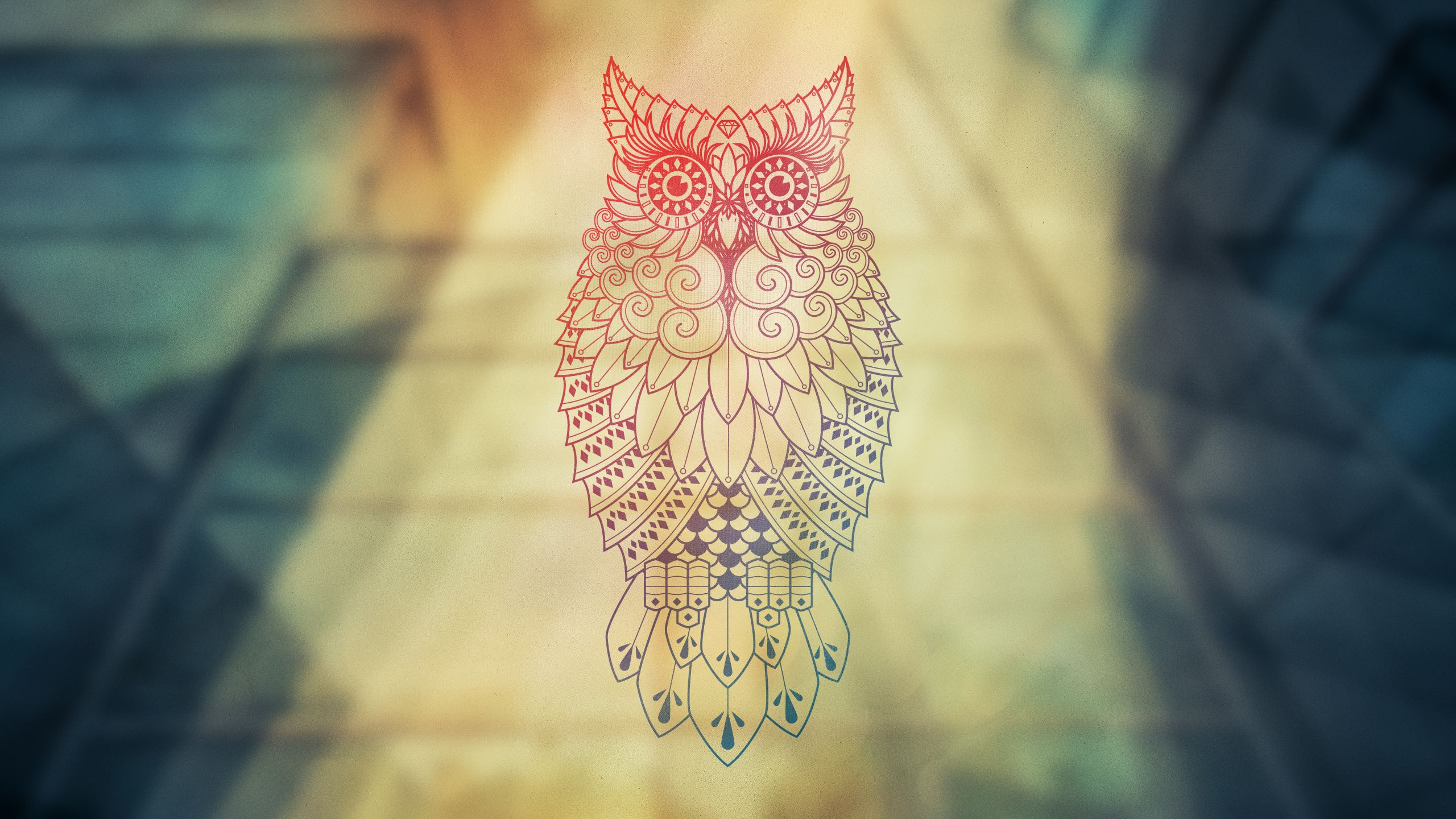 Owl Desktop Wall Full