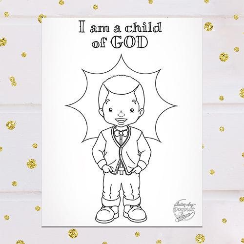 I Am A Child Of God Coloring Page Sunbeam Boy How To Draw Hands
