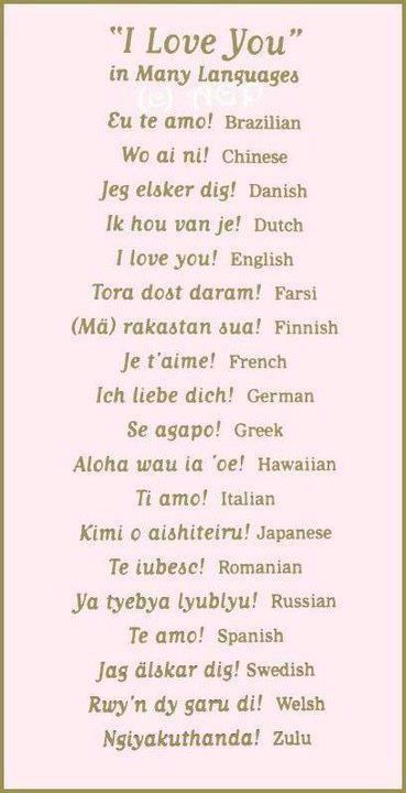 I Love You In Many Languages  Valentines Day  I Love -3453