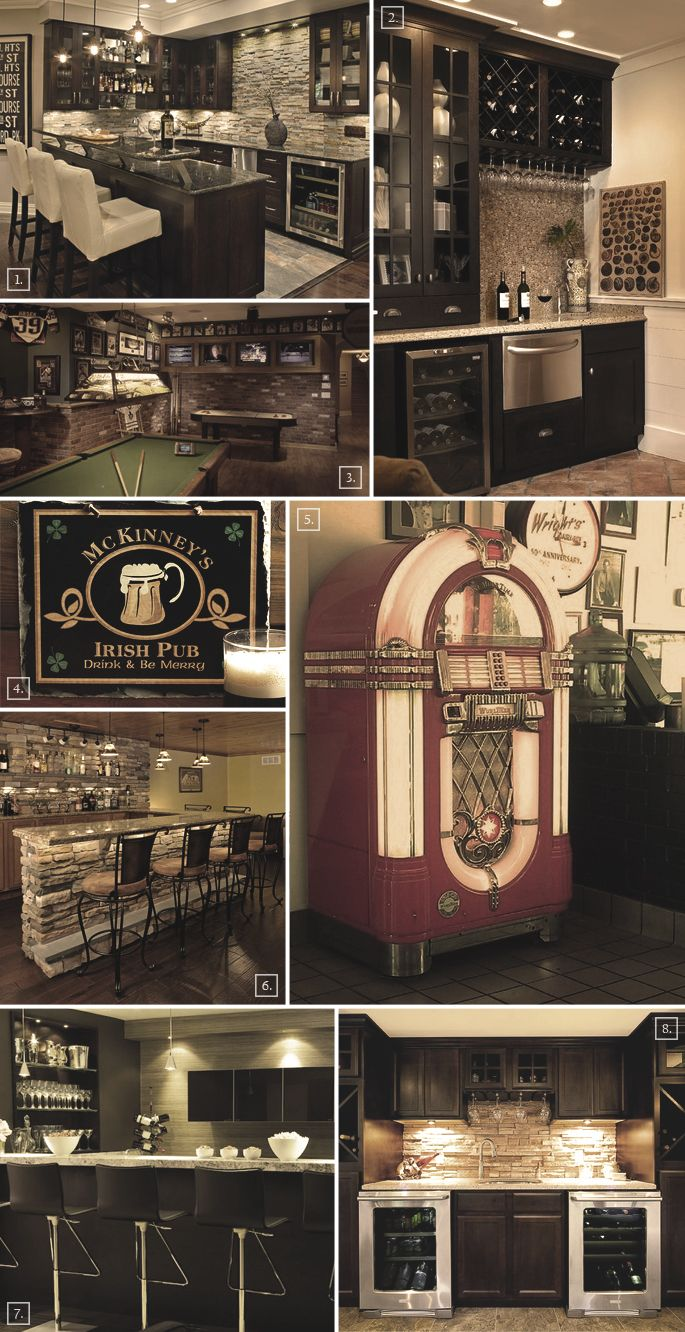 8 Different Basement Bar Ideas and Designs | Theken, Traumhäuser und ...