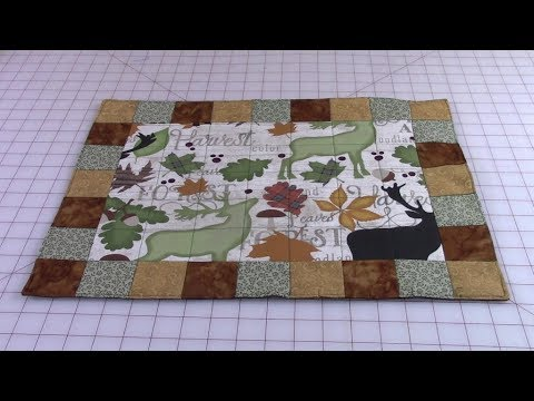92 No Binding Placemat With Border Squares Youtube Placemats Fabric Postcards Sewing Projects