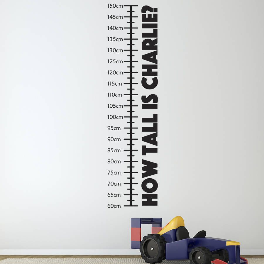 Personalised childrens height chart height chart wall sticker are you interested in our personalised wall sticker with our children height chart you need amipublicfo Gallery