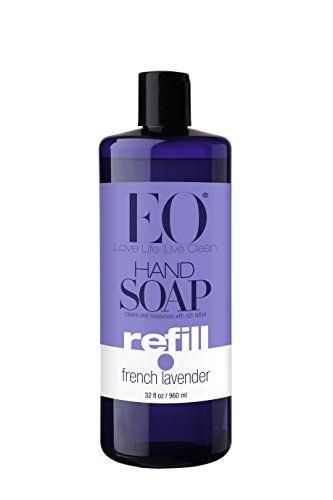 Eo Botanical Liquid Hand Soap Refill French Lavender 32 Ounce Pack