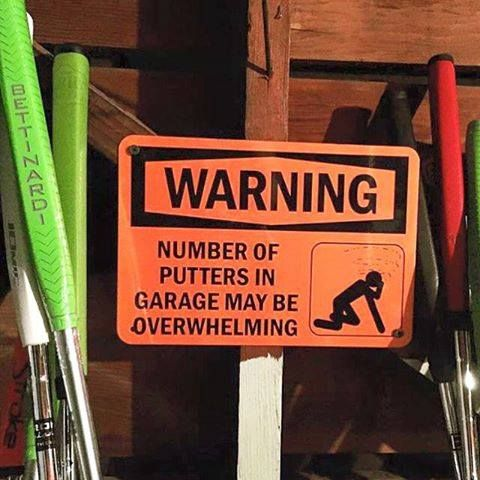 We've ALL got a buddy who could use this sign! I Rock Bottom Golf #rockbottomgolf