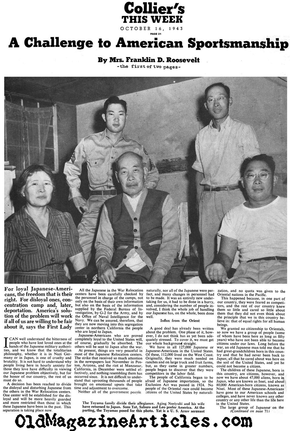 Japanese Internment in Canada