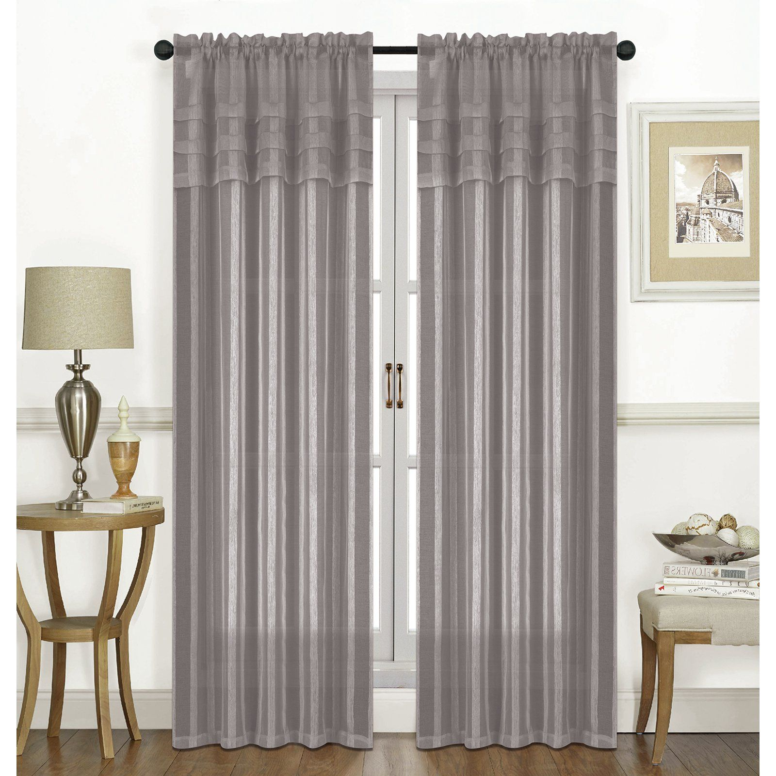 Rt Designers Collection Candice Textured Rod Pocket Curtain Panel