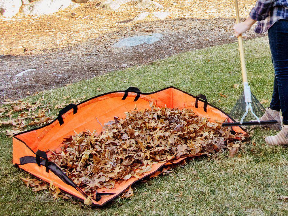 Ez Lawn And Garden Leaf Hauler Reinforced Clean Up Tarp Lawn