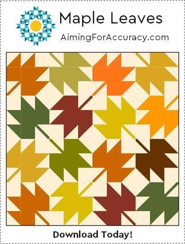Maple Leaves Quilt Block | Craftsy
