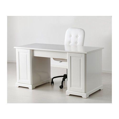 Liatorp bureau ikea tablette hauteur r glable permettant l 39 installation d 39 un ordinateur dans - Hauteur standard bureau ordinateur ...