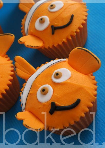 Finding Nemo Cupcakes Kid Friendly Fun Foods Pinterest