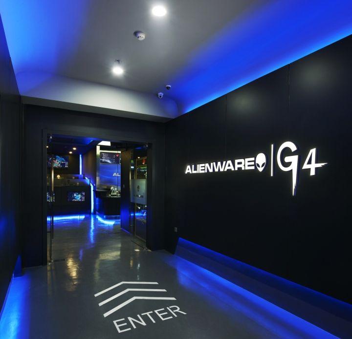 Alienware Ouvre Un Nouveau Cybercaf Aux Couleurs Du Futur