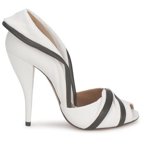 Black and White peep toe court shoes by Kallisté.
