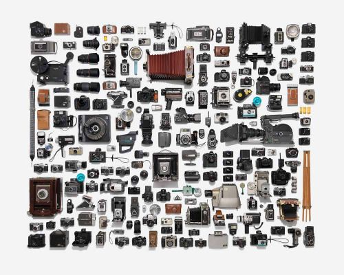 """Soooo many cameras, all nice and tidy. Photographer Jim Golden is selling a 16""""x20"""" print of Camera Collection for just $90. The 20""""x24"""" one is $125."""