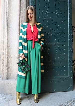 Wait and SEE presents ANONYME coat ROBERTO COLLINA shirt ERIKA CAVALLINI trousers PARIS TEXAS boots LISA C pochette
