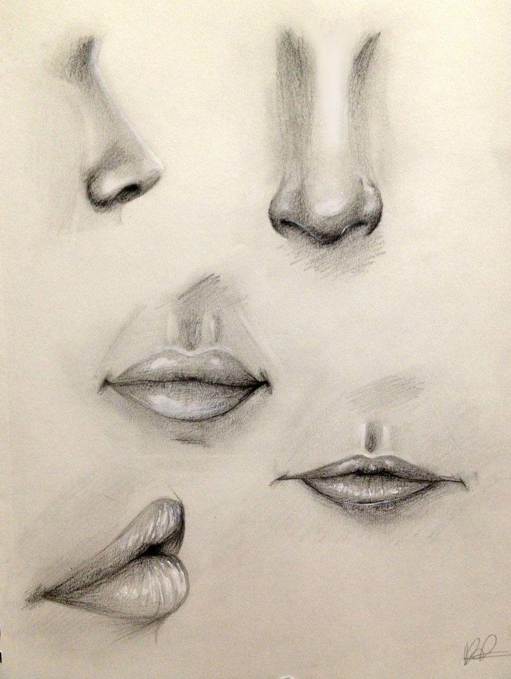 nose and lip practice by kaspiian deviantart com on deviantart