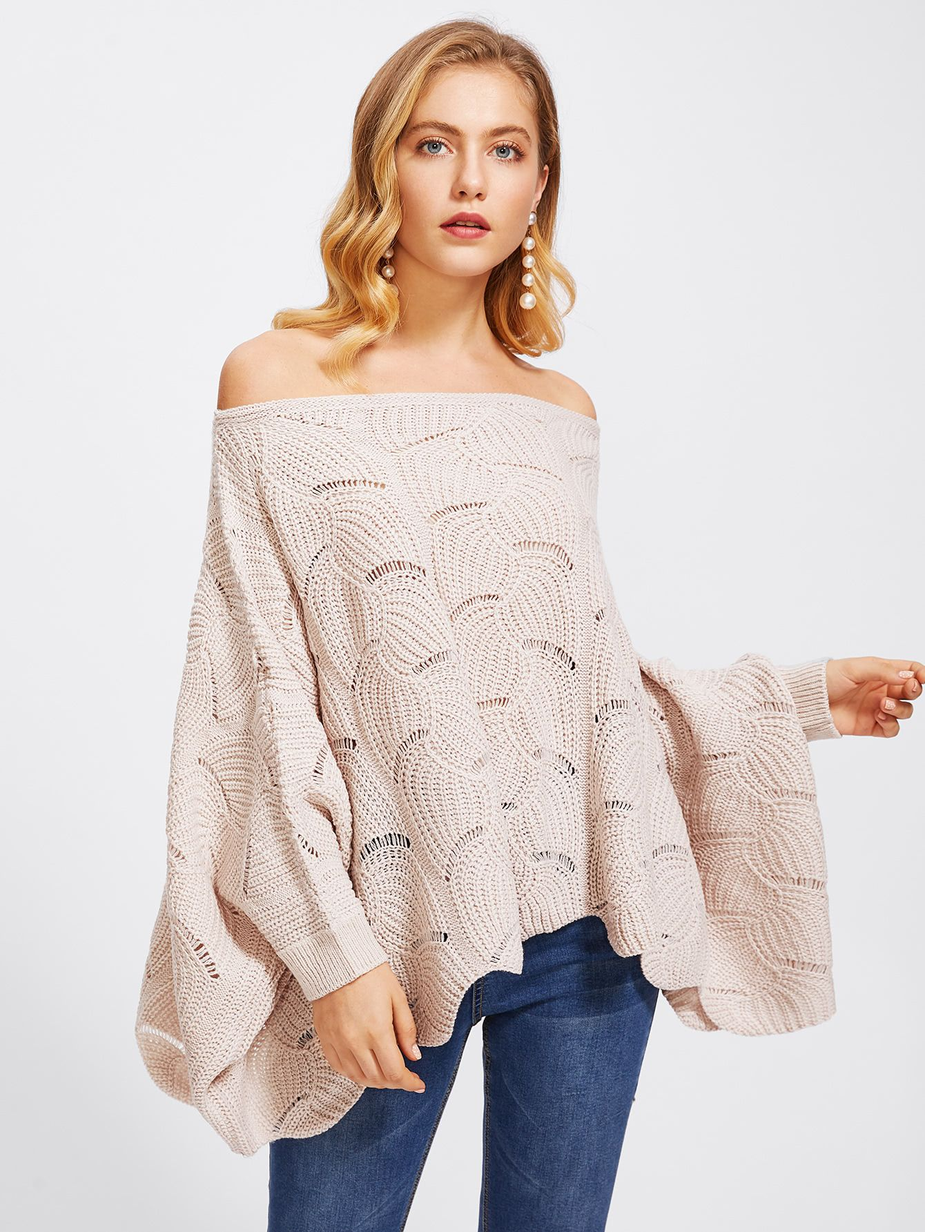 Loose Knit V-Neck Jumper - Just $6