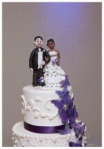 Custom Wedding Cake Topper Personalized Bride And Groom Mr Mrs Interracial