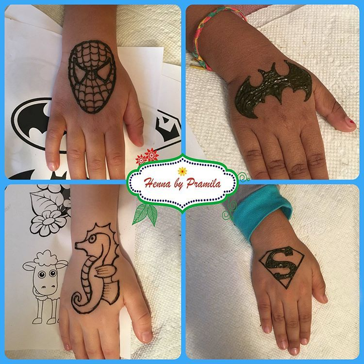 Sharing Kids Henna Designs I Did Last Weekenad For Cute Little Girl For Her 7th Birthday Pa Mehndi Designs For Kids Henna Tattoo Designs Henna Designs For Kids