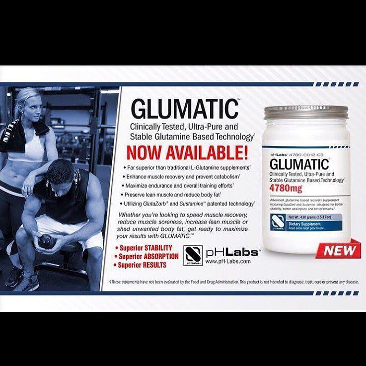 Fit Tip Tuesday Sick of being too sore after your workouts?! Glutamine helps your body Synthesize Protein and balance your PH-Levels.  It also help stop muscle wasting! Add A scoop of glutamine with your protein shake will help you repair muscle and stay healthier!  DID YOU KNOW?  There are different qualities of glutamine? Try GLUMATIC! It is clinically tested and stabilized for superior absorption! You can use less and get more from it! Its time to let your supplements work for you…
