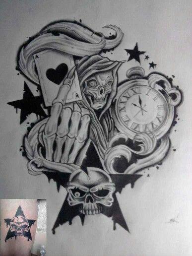Pin By Juan Antonio On Santa Muerte Skull Art Drawing Time Piece Tattoo Tattoo Drawings