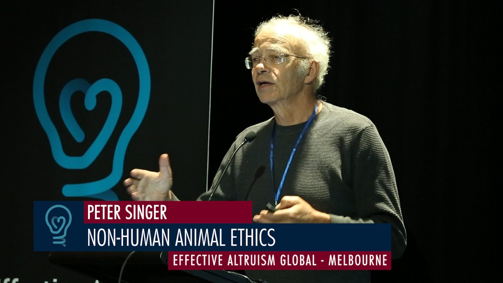 Peter Singer NonHuman Animal Ethics EA Global