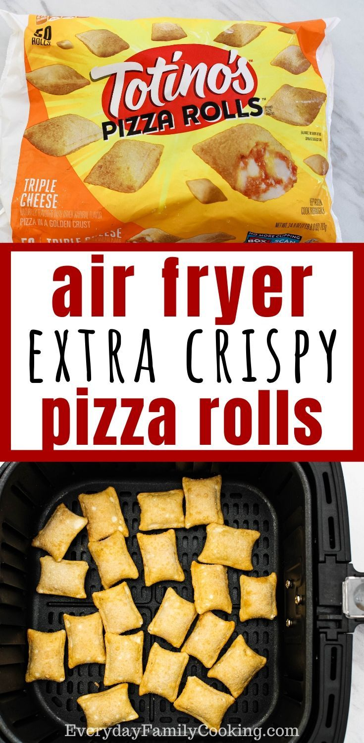 Did you know you can heat up pizza rolls in your air fryer
