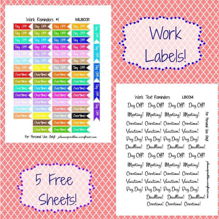 Multicolor Work Reminders & Decorative Text!