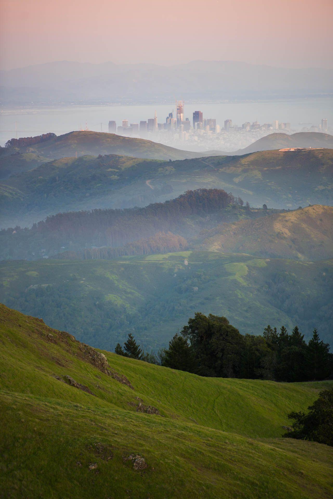 San Francisco CA from Mount Tamalpais. [OC][1281x1920]