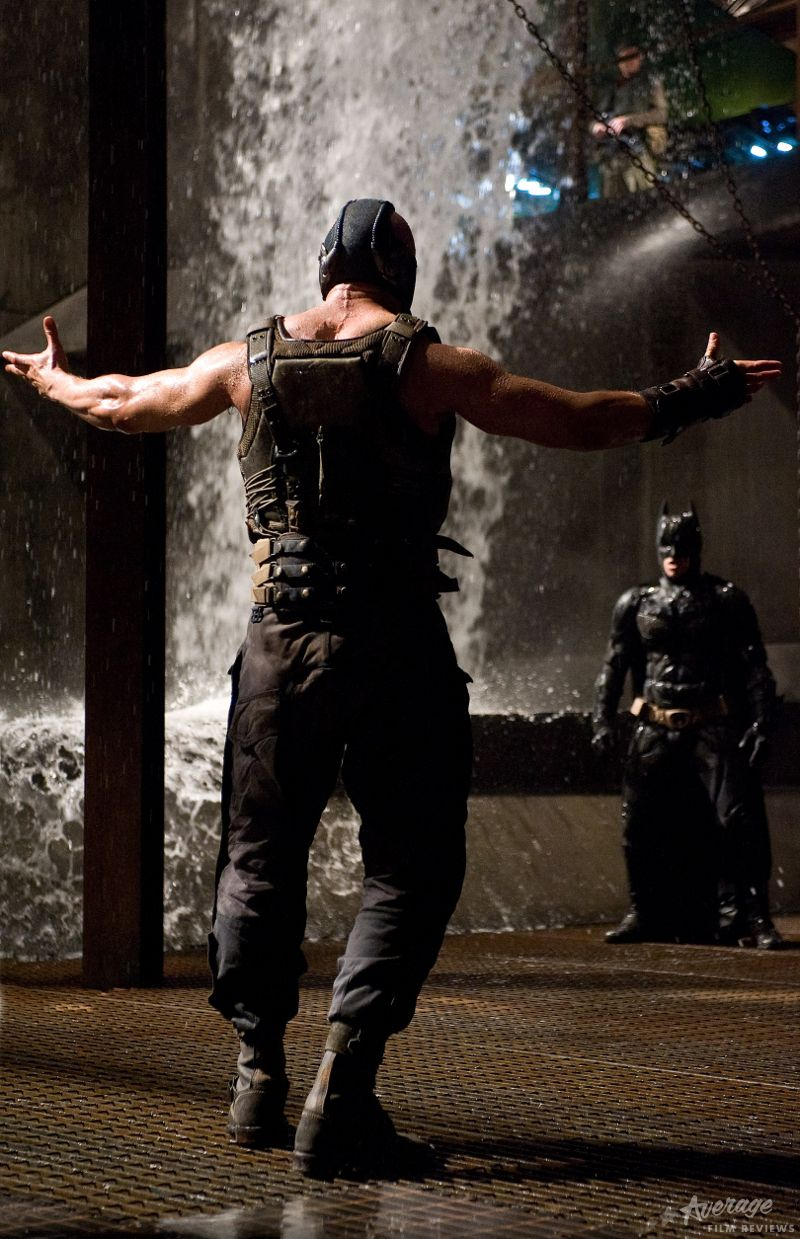Bane And Batman Face Off In This Still From The Dark Knight Rises