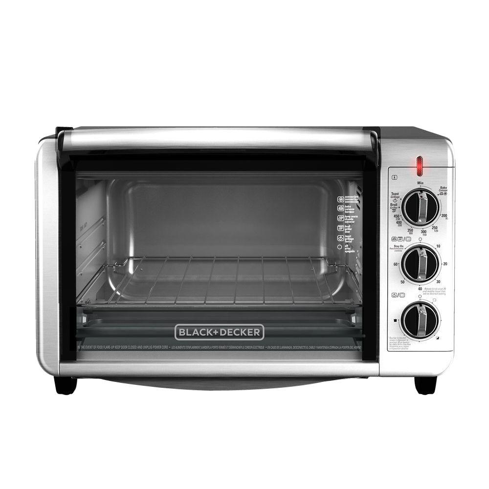 Black Decker 1500 W 6 Slice Black And Silver Convection Toaster