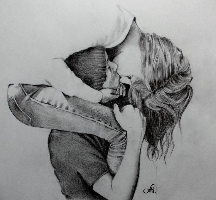 Imagenes Bonitas De Besos Hermosos Con Amor Imagenes Gratis Dibujos De Personas Sketch De Personas Dibujos De Amor