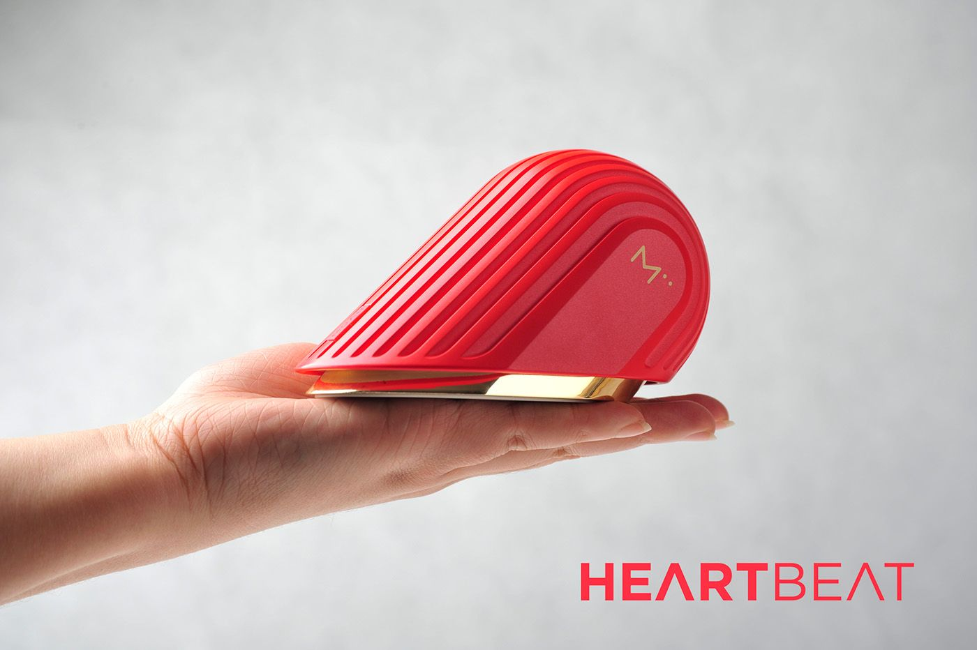 Heartbeat Is A Disruptive New Portable Audio Device That Allows You To Experience A Unique Interactive Relations Wearable Device Design Gadgets In A Heartbeat