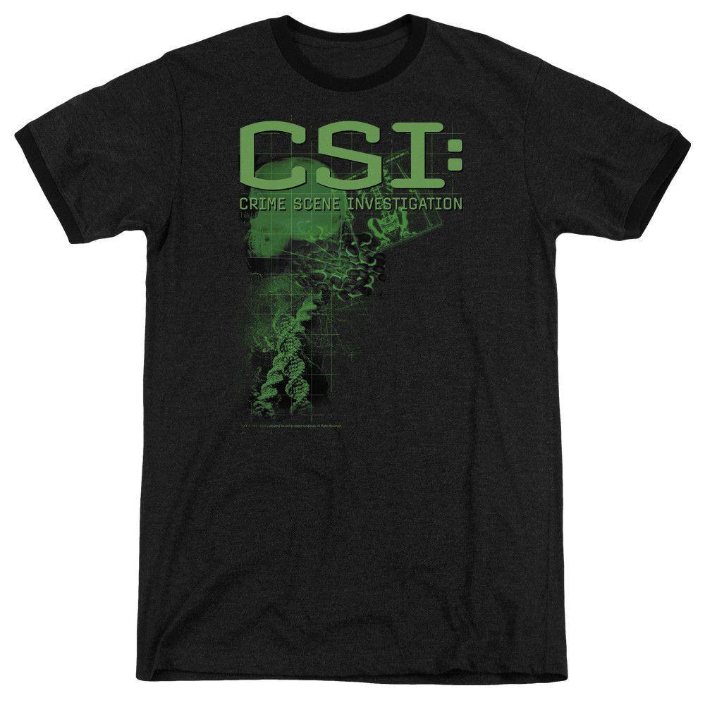 Csi - Evidence Adult Ringer T- Shirt