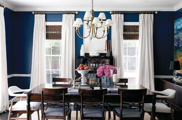 Best Ashley Putnam S Dramatic Dining Room Dining Room Blue 400 x 300