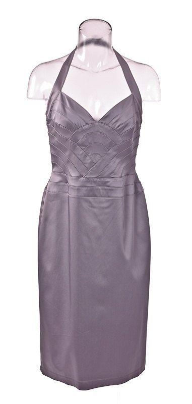 80s Silver Halter Dress