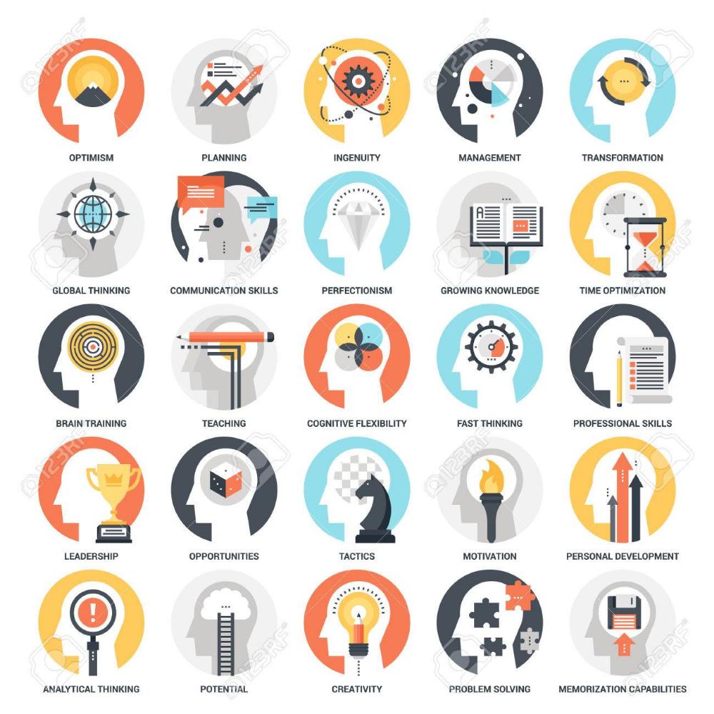 Personal Skills Icons Brain Icon Icon Design Vector Illustration