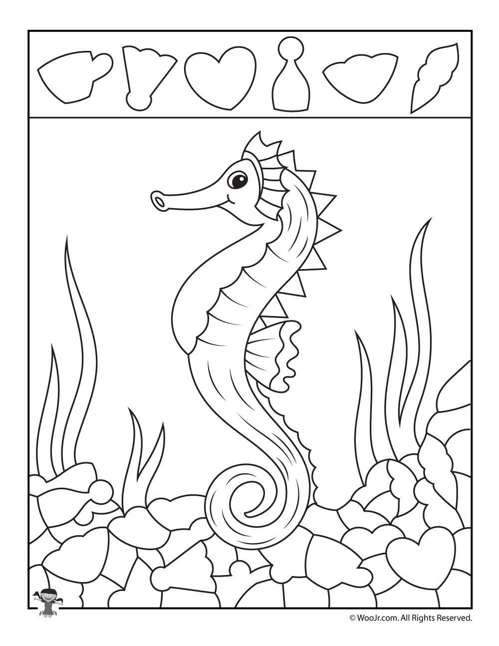 Sea Horse Hidden Pictures Shape Recognition Woo Jr Kids Activities Hidden Pictures Hidden Pictures Printables Hidden Picture Puzzles [ 1294 x 1000 Pixel ]