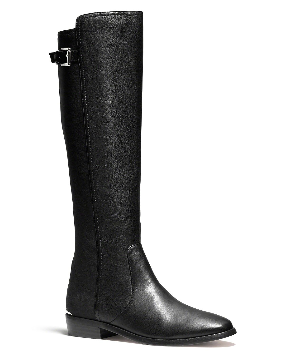 5586b75a09 COACH Lilac Stretch Riding Boots | Bloomingdale's | Boots | Boots ...