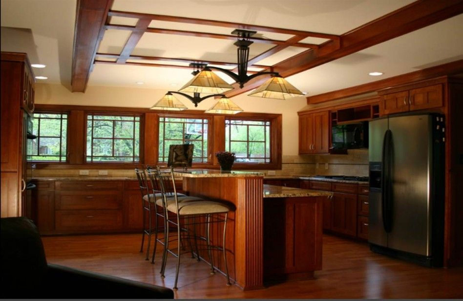Fantastic Frank Lloyd Wright Kitchen Design Collection: Interesting Frank  Lloyd Wright Kitchen Design With Nice Bar Table And Stool Including Awesome  Pagoda ...