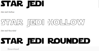 We used the free Star Wars font for the invitations and