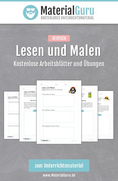 kostenlose arbeitsbl tter und bungen zum thema lesen und malen im fach deutsch an der. Black Bedroom Furniture Sets. Home Design Ideas