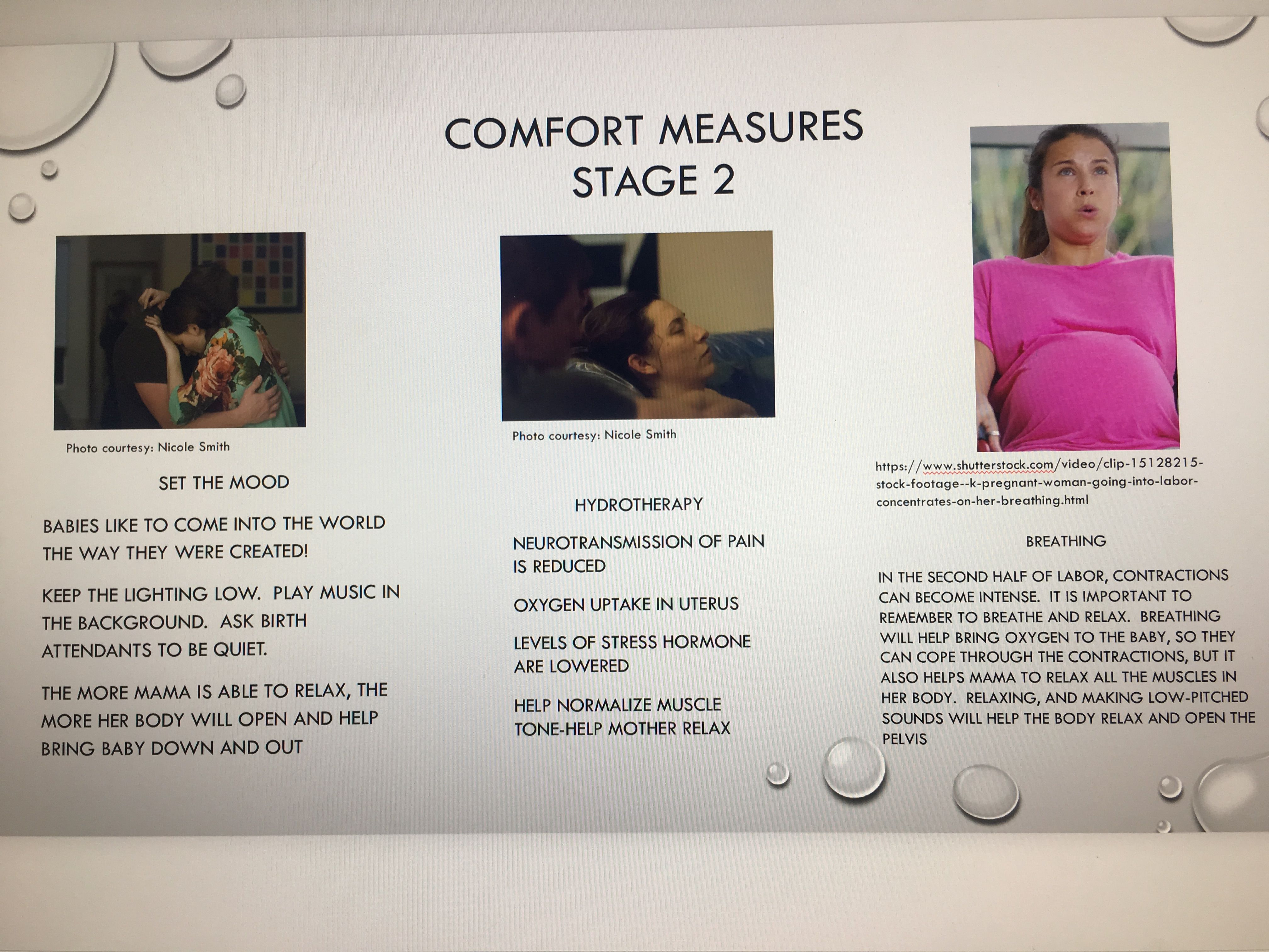 Comfort MeasuresStage 2 Midwife assistant, Field guide